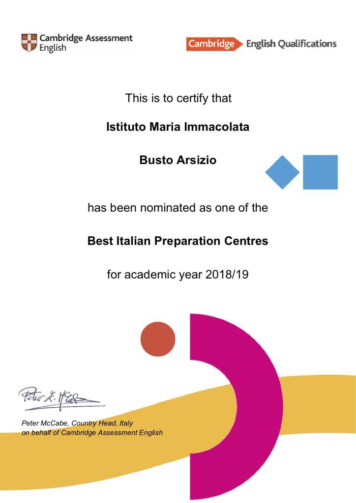 Cambridge - best Italian certification center